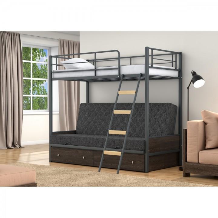 Двухъярусная кровать-диван 4 Сезона Дакар 2 с ящиками