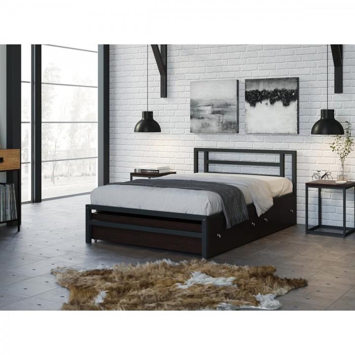 Односпальная кровать 4 Сезона Титан 120 с ящиками