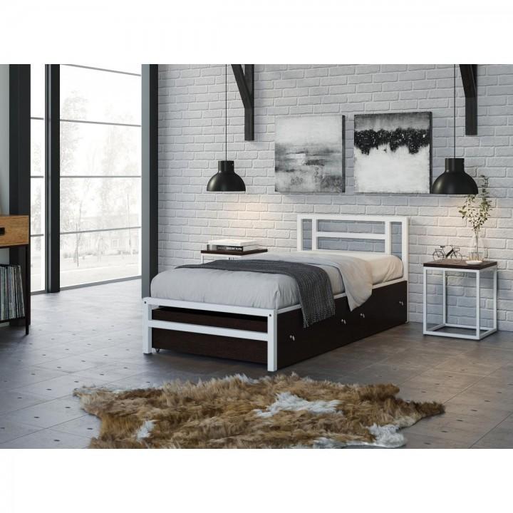 Односпальная кровать 4 Сезона Титан 90 с ящиками