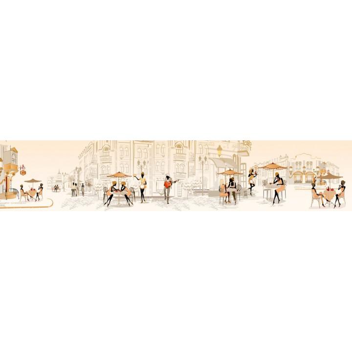Кухонный фартук Уличное кафе Бежевый