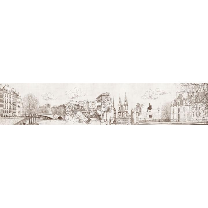 Кухонный фартук Зарисовка города