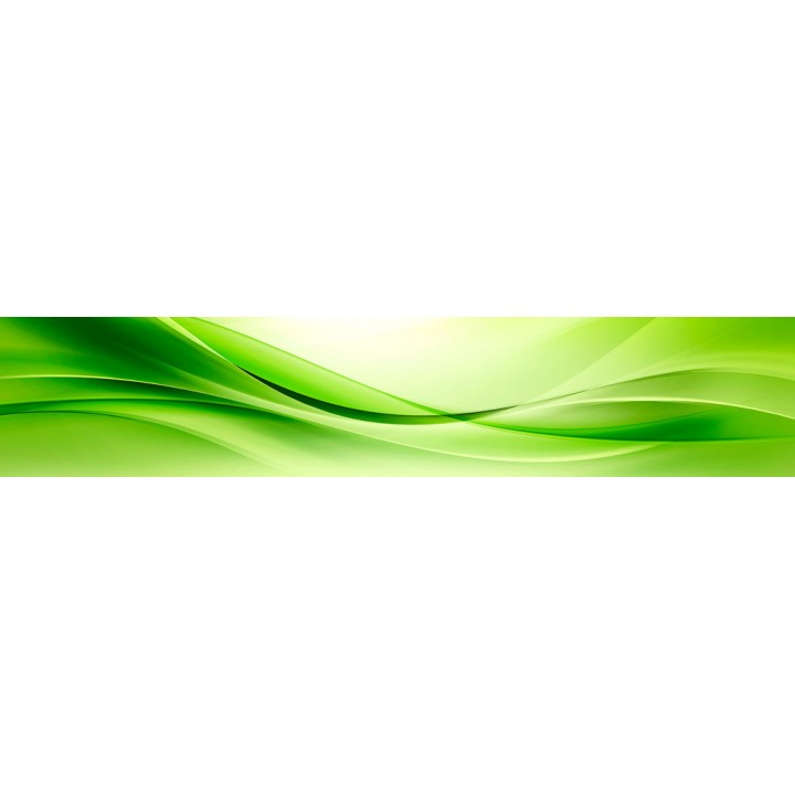 Кухонный фартук Зеленая волна
