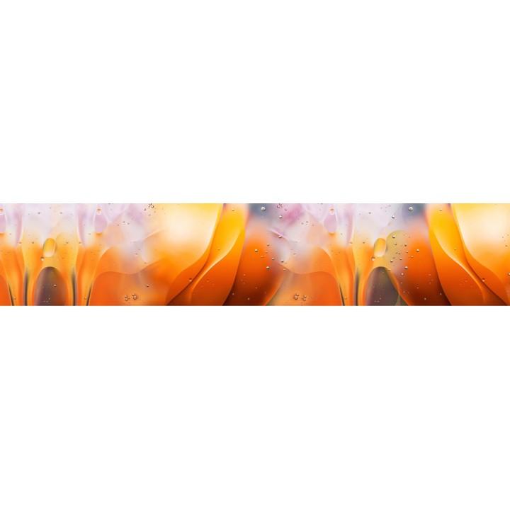 Кухонный фартук Оранжевая абстракция