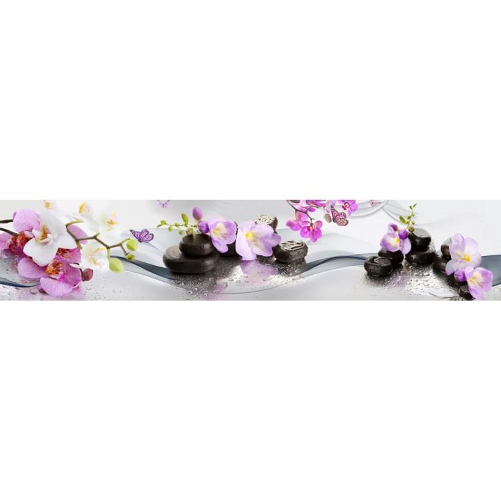 Кухонный фартук Орхидеи и бабочки