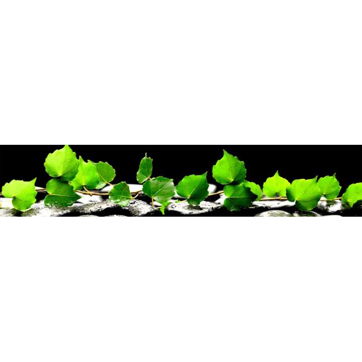 Кухонный фартук Листья на камнях
