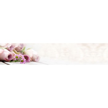 Кухонный фартук Нежно-розовые цветы