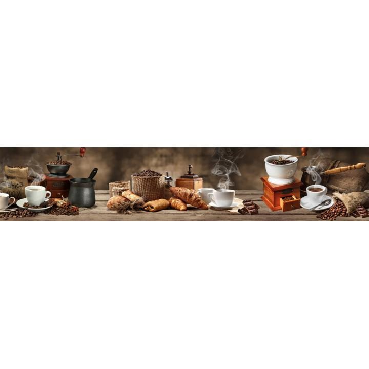 Кухонный фартук Кофе и круассаны
