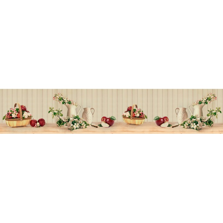 Кухонный фартук Натюрморт с яблоками