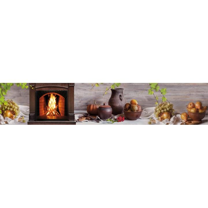 Кухонный фартук Груши и камин