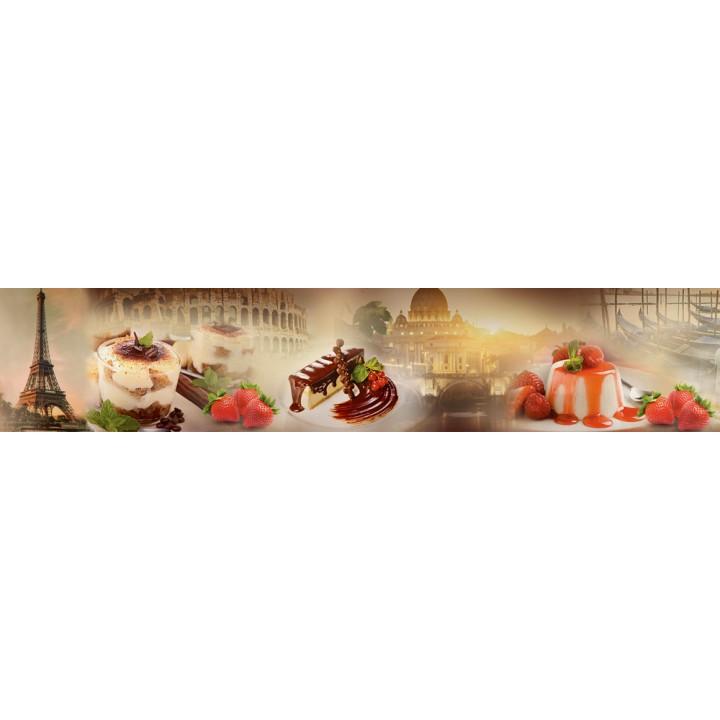 Кухонный фартук Десерт в Европе