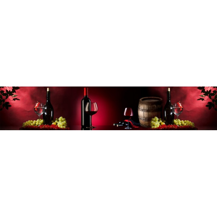 Кухонный фартук Вино на красном
