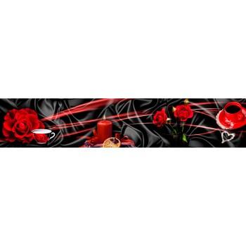 Кухонный фартук Розы и шелк