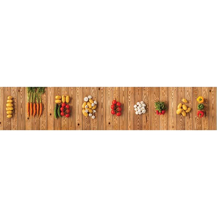 Кухонный фартук Овощная лавка