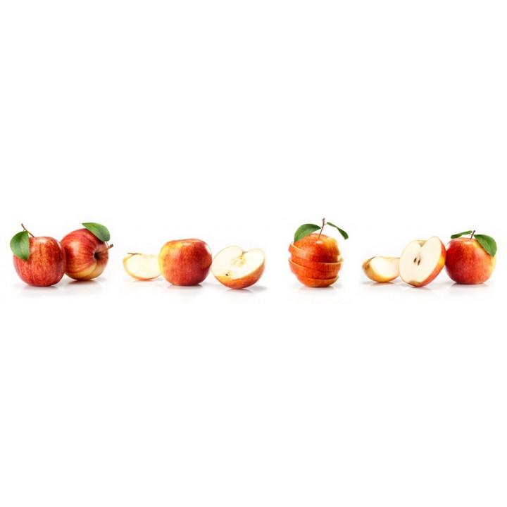Кухонный фартук Красные яблоки