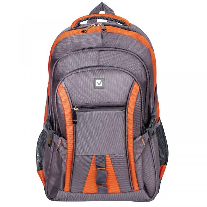 Рюкзак BRAUBERG SpeedWay 2 25л 46х32х19 см серо-оранжевый 224448