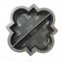 Форма для тротуарной плитки Alpha 1/3 Клевер краковский малый половинки Ф31015/1