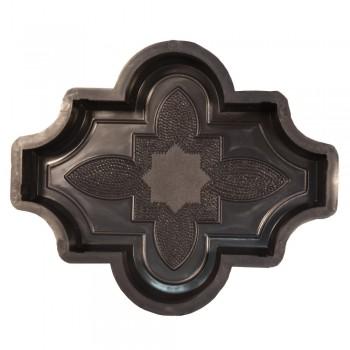 Форма для тротуарной плитки Alpha 1/4 Клевер узорный Ф31016
