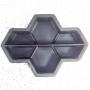 Форма для тротуарной плитки Alpha Соты 4.5 продольные Ф31037/4