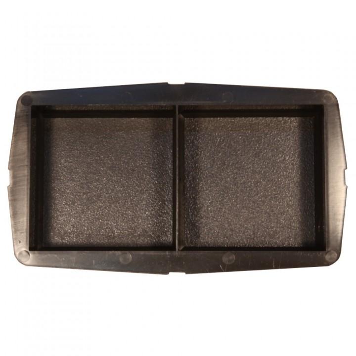 Форма для тротуарной плитки SP Кирпич шагрень половинки Ф11017