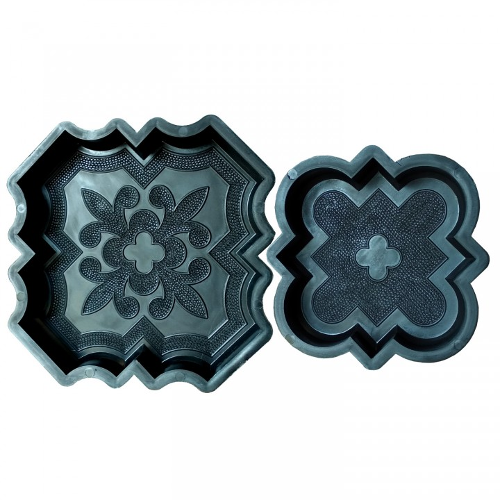 Комплект форм для тротуарной плитки Alpha Клевер краковский 31014+31015