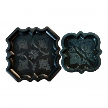 Комплект форм для тротуарной плитки SP Клевер краковский гладкий Ф11020+Ф11021