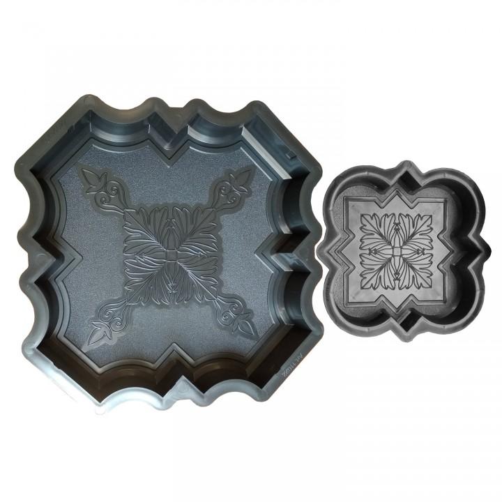 Комплект форм для тротуарной плитки SP Клевер краковский шагрень ф11022+Ф11023
