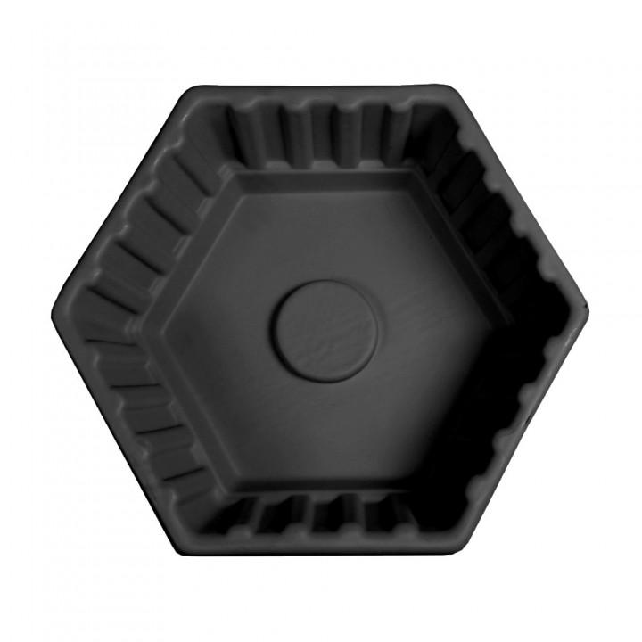 Клумба Шестигранная большая черная