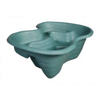 Декоративный пластиковый садовый пруд 110 л зеленый
