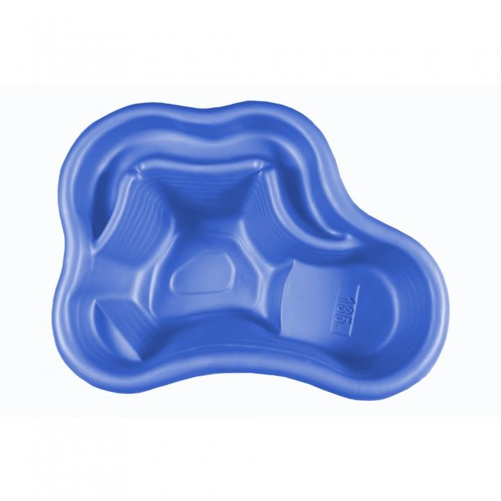 Декоративный пластиковый садовый пруд 135 л синий