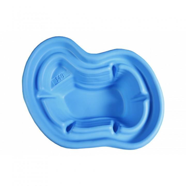 Декоративный пластиковый садовый пруд 140 л синий