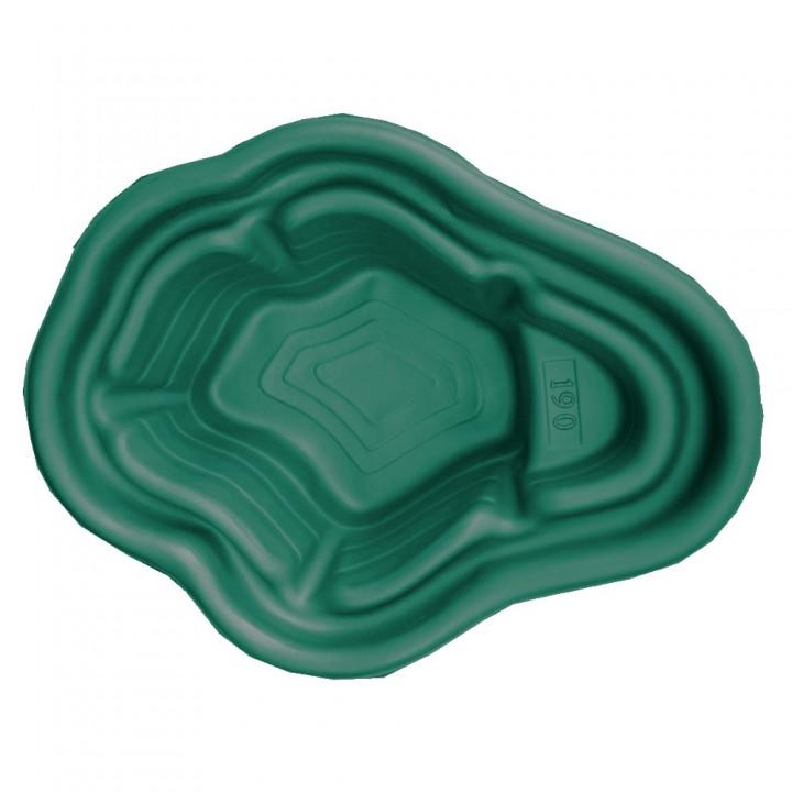 Декоративный пластиковый садовый пруд 190 л зеленый