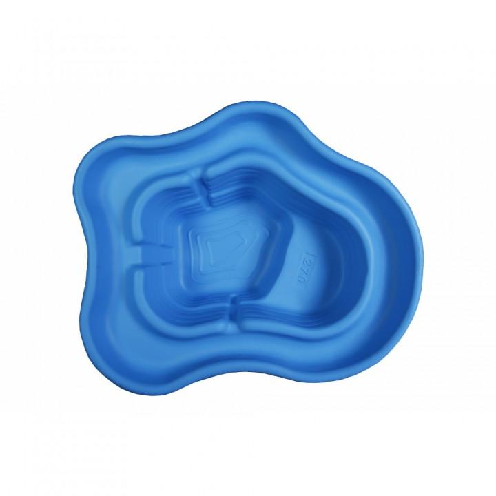 Декоративный пластиковый садовый пруд 270 л синий