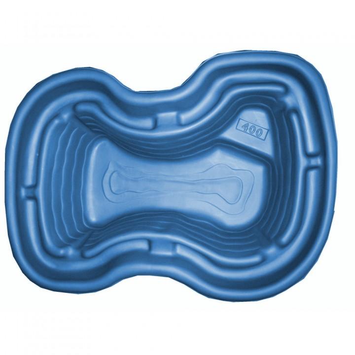 Декоративный пластиковый садовый пруд 400 л синий