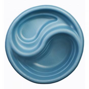 Декоративный пластиковый садовый пруд 80 л синий