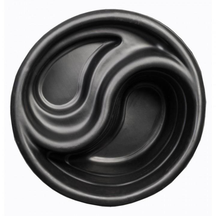 Декоративный пластиковый садовый пруд 80 л черный