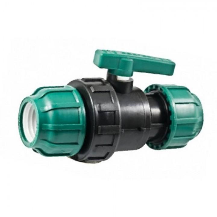Кран ПНД шаровый компрессионный 25х25