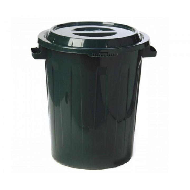 Бак пластмассовый 90л с крышкой зеленый М2394