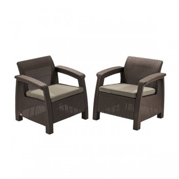 Набор 2 кресла Allibert Corfu duo set 17197993