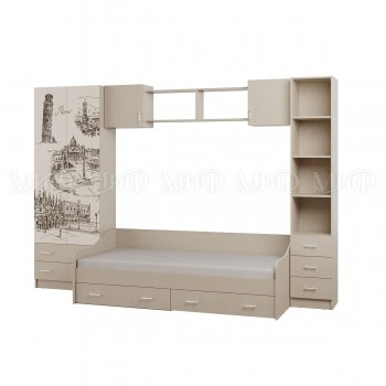 Комплект мебели для детской комнаты МиФ Вега-1 с рисунком