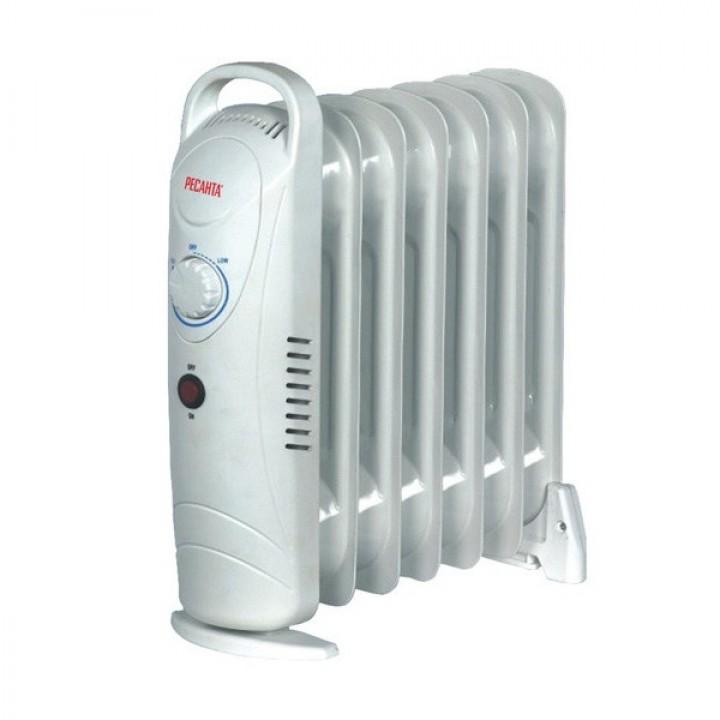 Масляный радиатор Ресанта ОММ- 7Н 0,7 кВт