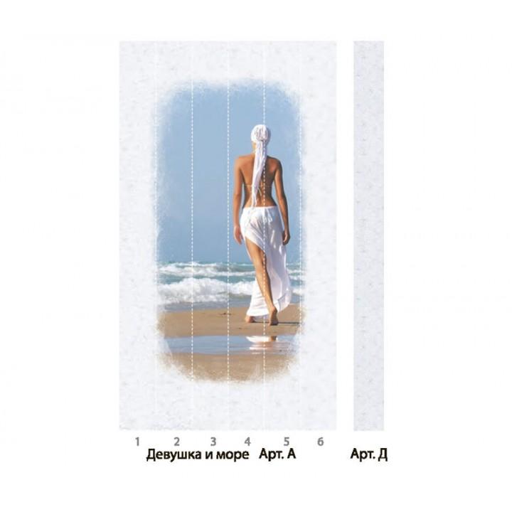 Панно из ПВХ-панелей с цифровой печатью Девушка и море