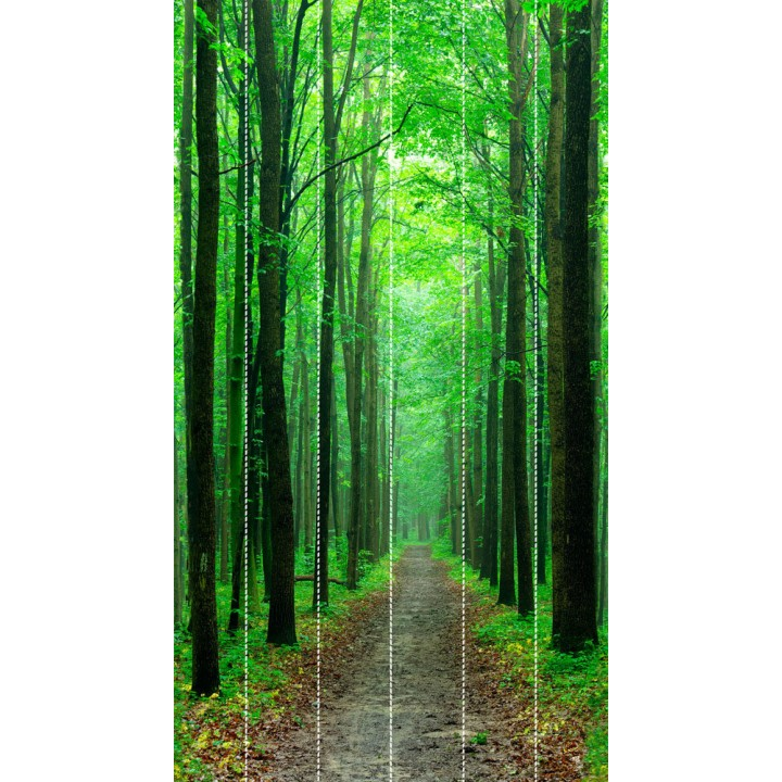 Панно из ПВХ-панелей с цифровой печатью Дорога в лес