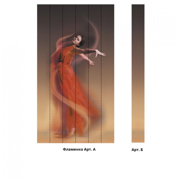Панно из ПВХ-панелей с цифровой печатью Фламенко
