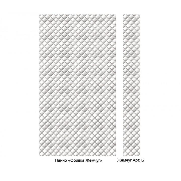 Панно из ПВХ-панелей с цифровой печатью Обивка жемчуг