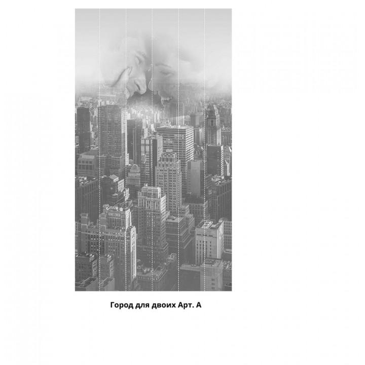 Панно из ПВХ-панелей с цифровой печатью Город для двоих