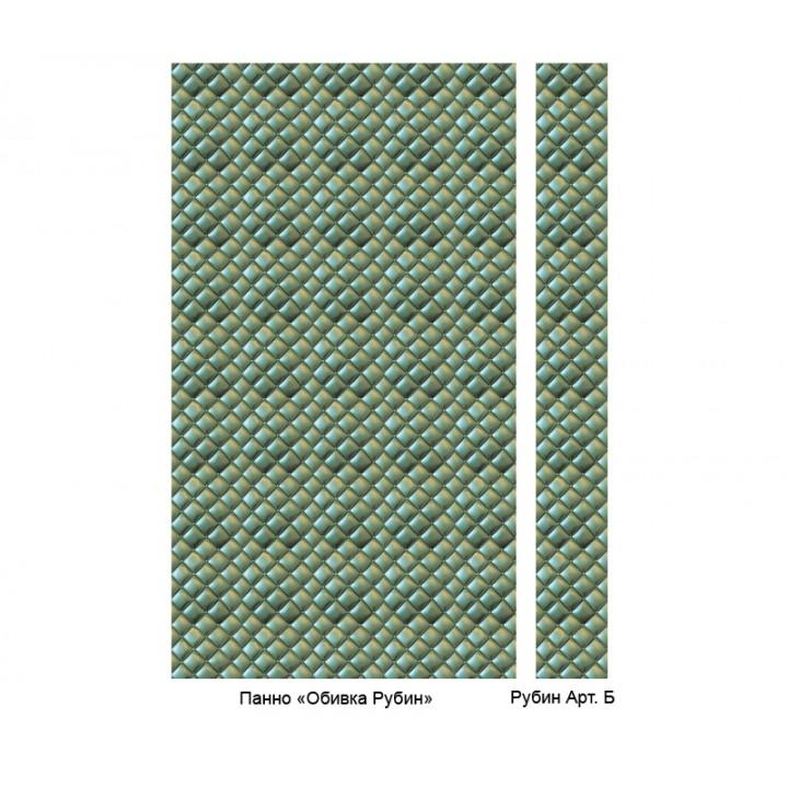 Панно из ПВХ-панелей с цифровой печатью Обивка изумруд