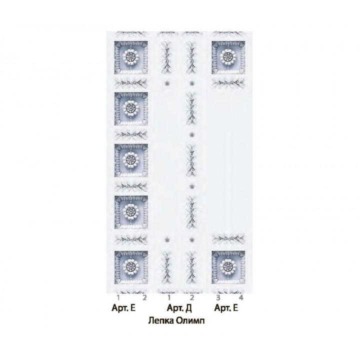 Панно из ПВХ-панелей с цифровой печатью Лепка Олимп