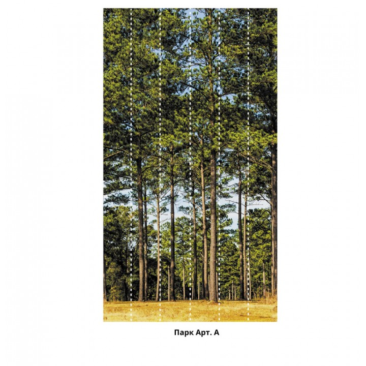 Панно из ПВХ-панелей с цифровой печатью Лес