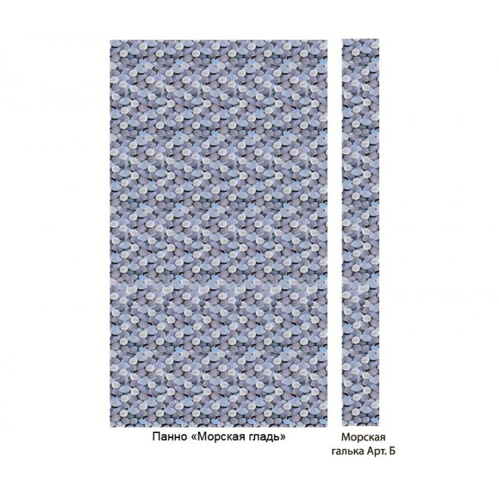 Панно из ПВХ-панелей с цифровой печатью Морская галька