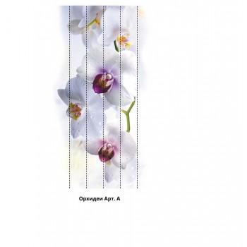 Панно из ПВХ-панелей с цифровой печатью Орхидеи